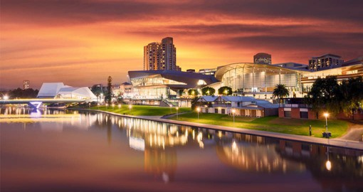 Set on the banks of the River Torrens, Adelaide is sophisticated and multicultural