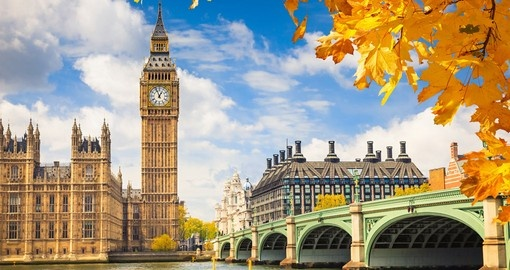 Walk along the city streets in London and admire the beautiful landscape on your London Vacation