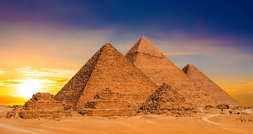 The pyramids are the most recognizable symbol of ancient Egypt