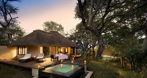 Your South Africa vacation features a stay at the Dulini River Lodge.