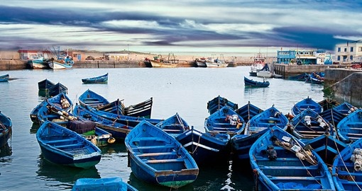 Your Morocco vacation includes a trip to Essaouira.