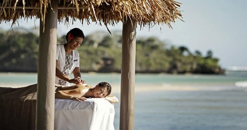 Enjoy a relaxing massage at the spa in the InterContinental Fiji Golf Resort & Spa included in your Fiji Vacation Packages.