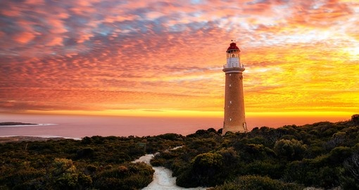 Visit Cape Du Couedic lighthouse in Kangaroo Island and experience the breathtaking view during your next Australia vacations.