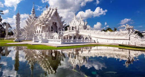 Begin your Thai Vacation in Chiang Rai with a visit to the White Temple