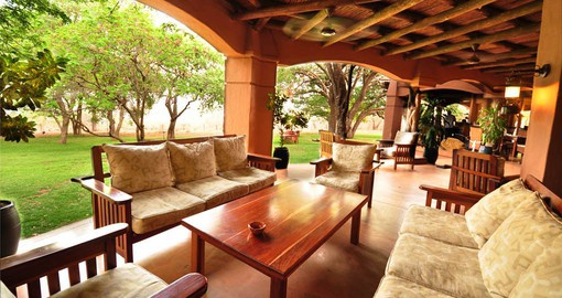 Chobe Chilwero outside lounge