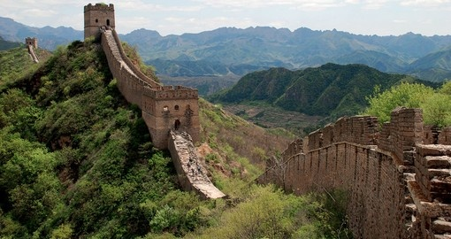 Stroll along top of the famous Great Wall of China on your Hong Kong Vacation