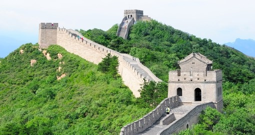 The iconic Great Wall, near Beijing