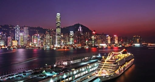 Kowloon Bay at night