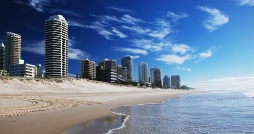 The famous beaches of the Gold Coast