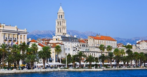 Catch some sun in the historic port of Split on your Croatia vacation