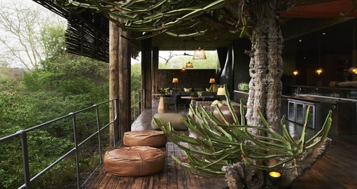 Singita Sweni Lodge verandah