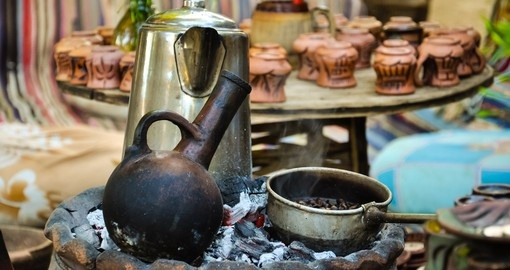 Traditional coffee making