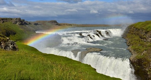 You will visit the majestic Gullfoss waterfall during your Iceland trip.