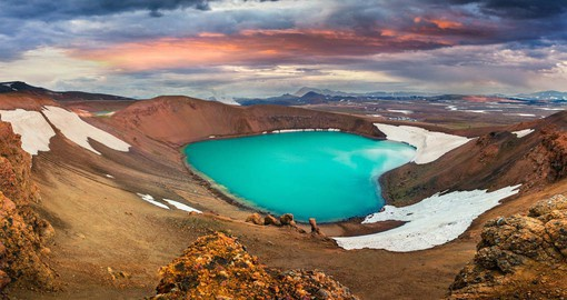 Lake Myvatn is the product of a volcanic eruption around 10,000 years ago