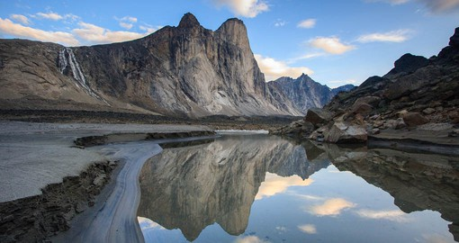 Mount Thor in Auyuittuq National Park features the world's greatest vertical drop at 1,250 meters