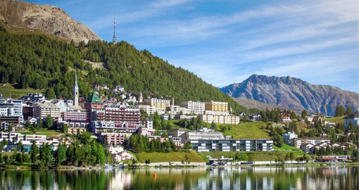 Twice host of the Winter Olympics, St. Moritz belongs to a UNESCO World Heritage site