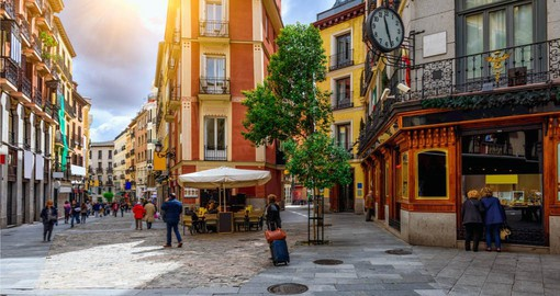 Take time on your holiday in Spain to wonder the cozy old streets of Madrid