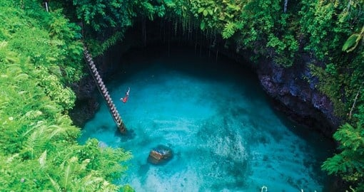 Samoa's To Sua Ocean Trench, a giant swimming hole!Samoa's To Sua Ocean Trench, is a giant swimming hole and a unique inclusion when booking Samoa vacations.