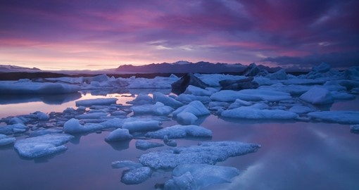 Discover this largest Glacier Lake Jokulsarlon on your next Iceland tours.