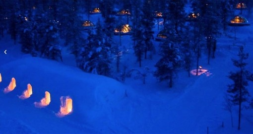 Go the traditional route. Stay in a snow igloo on your trip to Finland