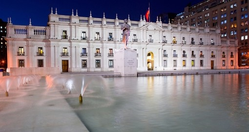 One of Santiage icon locations, Palacio de la Moneda, and a highlight on all Chile vacations
