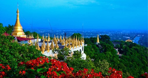 Mandalay on the Irrawaddy River is the former royal capital