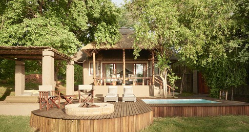 Chobe Chilwero is a luxurious riverside retreat in the heart of the bush