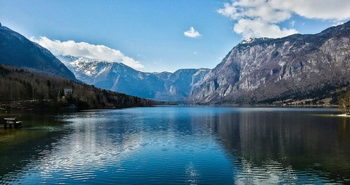 Famed for it's blue-green waters, Bohinj is the largest lake in Slovenia