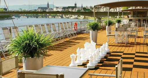 The Sun Deck on the MS Amadeus Silver II.