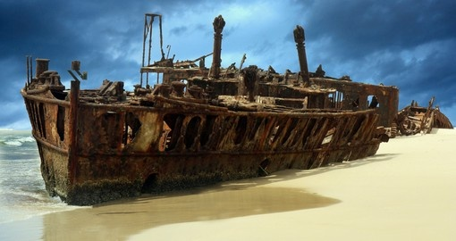 Shipwreck of the Meheno on Fraser Island