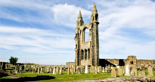 The Cathedral of St Andrew, built in 1158, fell into disuse and ruin during the Scottish Reformation