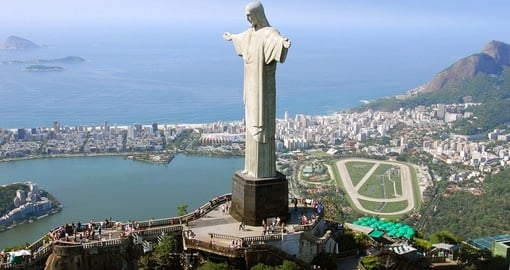 Aerial View of Christ the Redeemer in Rio