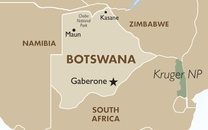 Botswana Country Map