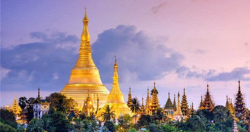 Begin your Myanmar tour in Yangon and a visit to the Shwedagon Pagoda
