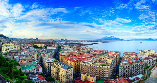 Italy's third largest city, Naples is built on the shores of the Gulf of Salerno and in the shadow of Mount Vesuvius