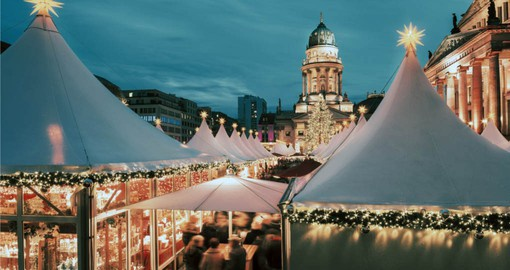 Your trip to Germany begins Berlin and a visit to the Christmas Market at Deutscher Dom and Konzerthaus