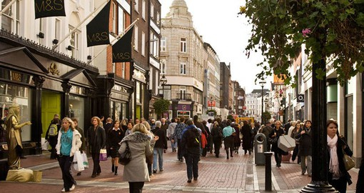 Grafton Street, a narrow winding road that's been at the heart of the city's social life for more than a century