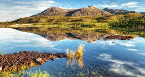 Breathtaking natural landscape of Connemara mountains in Ireland