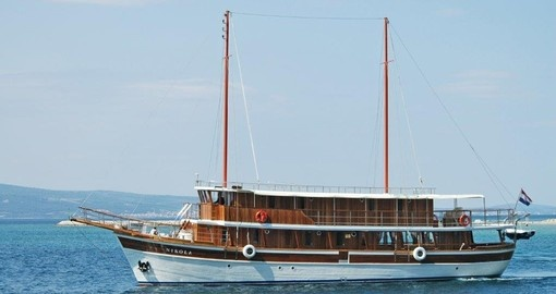 Katarina Cruises also offers traditional Croatian wooden ships