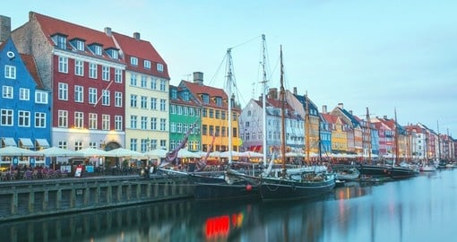 Experience the colourful city of Copenhagen on your Scandinavia Tour