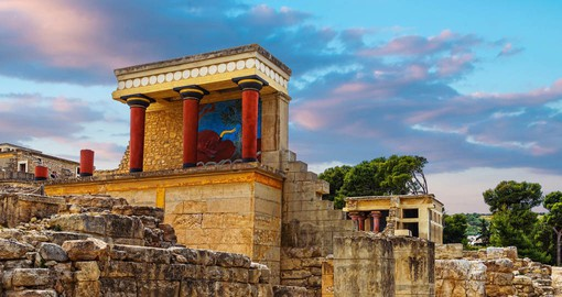Destroyed and rebuilt twice, Knossos Palace is the largest Bronze Age site in Greece