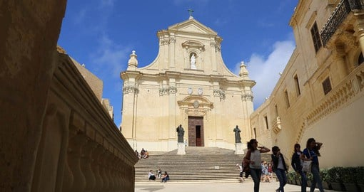 Gozo's cathedral is built on the site of a Roman temple dedicated to the goddess Juno