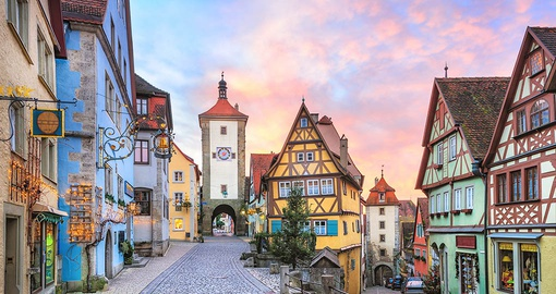 Visit the city of Rothenburg on your trip to Germany