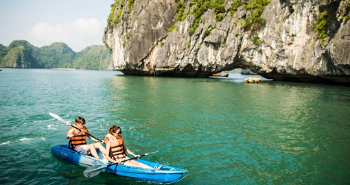 Kayak in Halong Bay on your Vietnam Tour