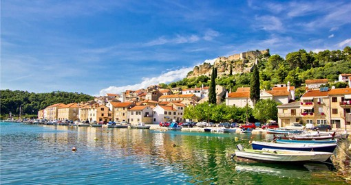 The clear blue waters of Croatia's Dalmatian Coast are renown for stunning sunsets and medieval architecture
