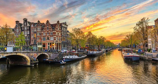 Amsterdam's old town is a maze of canals and narrow lanes