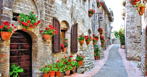 Picturesque Italian lane