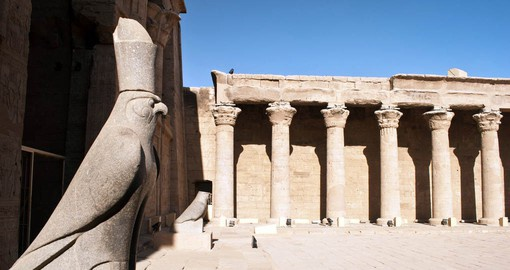 Built between 237 and 57 BC, the Temple of Horus at Edfu is one of the best preserved in Egypt