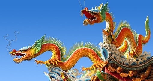 The Dragon is a sacred symbol of China