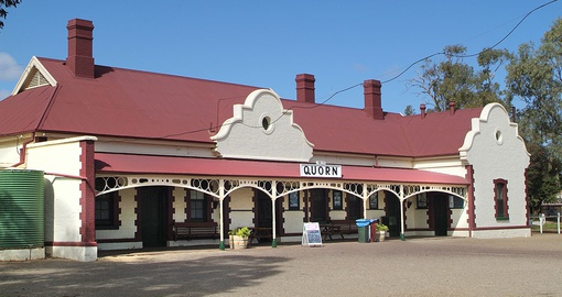 Railway Station in the Outback Township of Quorn